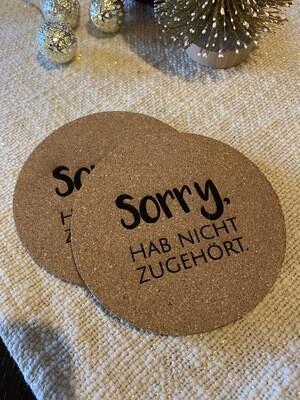 "Untersetzer ""Sorry"""
