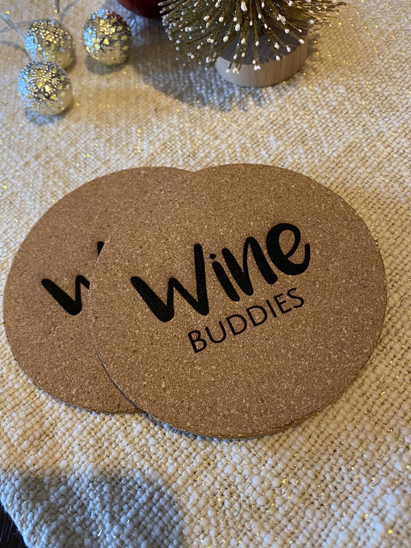 """Untersetzer Set """"Wine Buddies"""""""