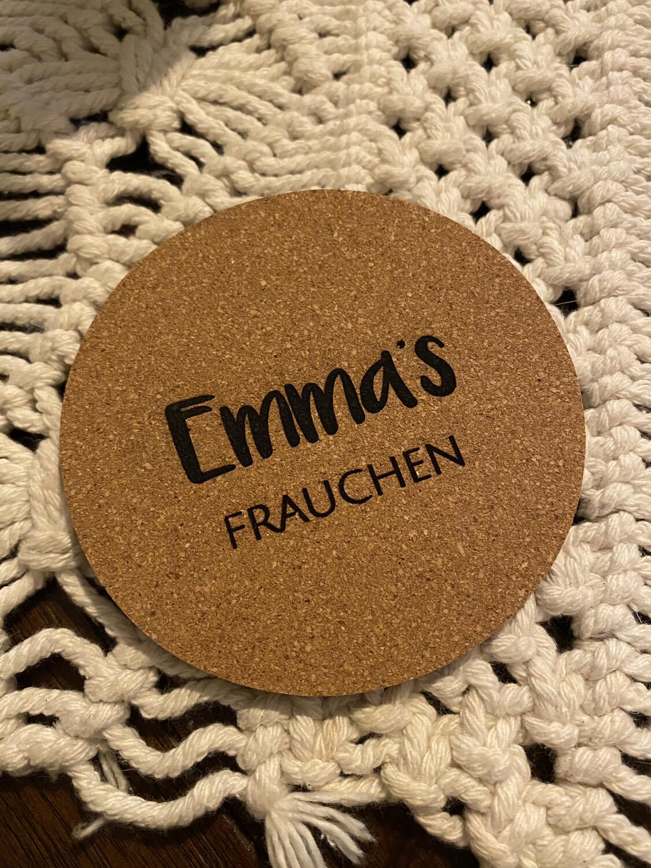 """Untersetzer """"Frauchen"""" personalisiert"""
