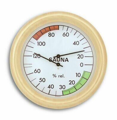 Sauna-Thermo-Hygrometer mit Holzrahmen