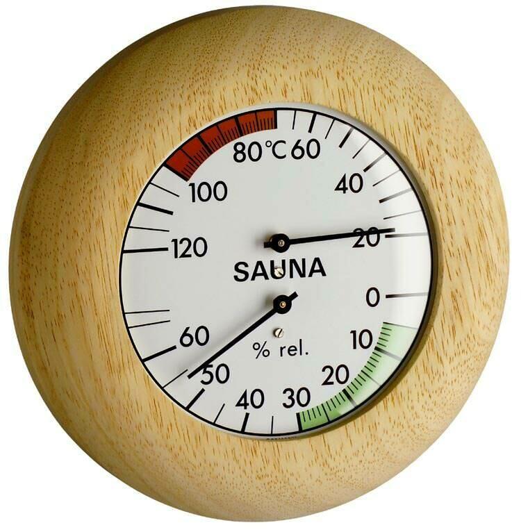 Sauna-Thermometer Echtholz TFA 40.1028