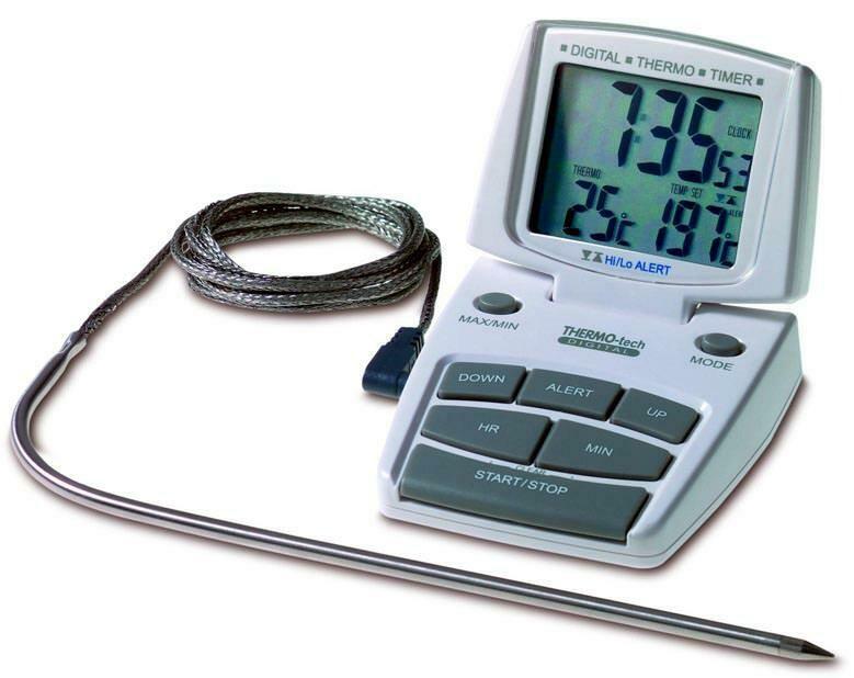 Küchen-Thermo-Timer Backofentimer TFA 14.1500