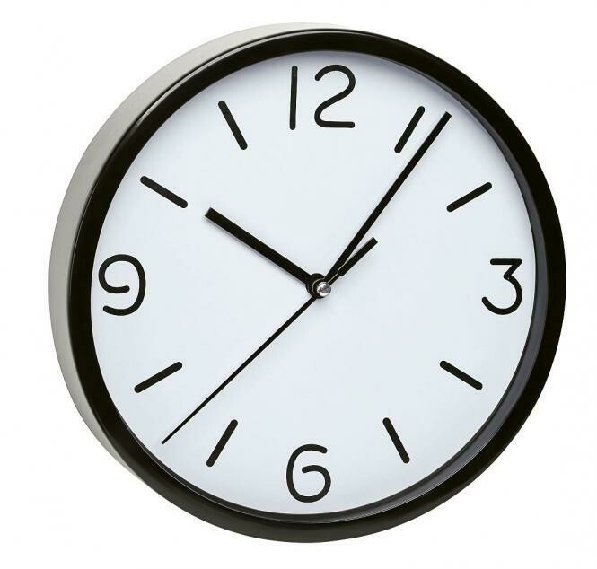 Wanduhr mit geräuscharmem Uhrwerk