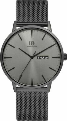 AKILIA DAY/DATE ALL GREY MESH