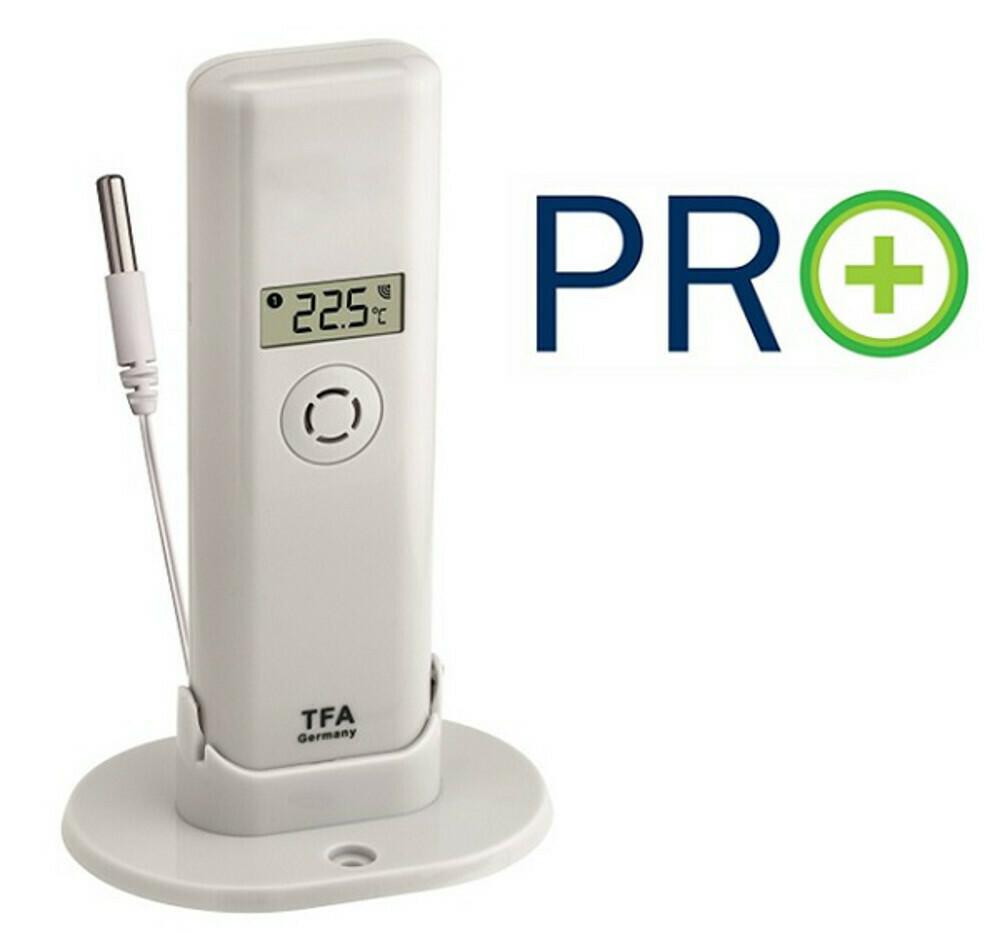 Weatherhub Temperatursender mit Kabelsensor und PRO Funktionen