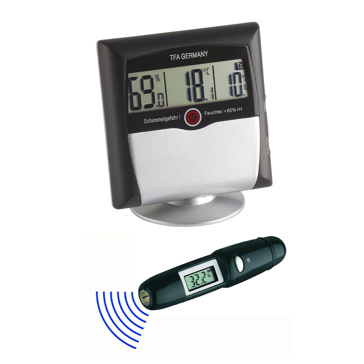 Digitales Thermo-Hygrometer und Infrarotthermometer KLIMA CONTROL SET