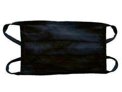 Baumwoll-Leinenmaske im 3er-Pack / schwarz