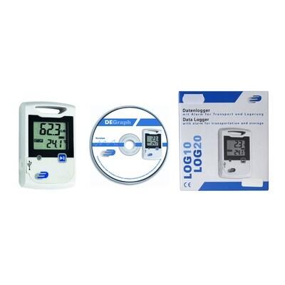 Datenlogger für Temperatur und Feuchte LOG20 inkl. Zertifikat