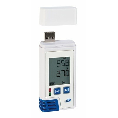 Datenlogger LOG210 für Temperatur und Feuchte mit Werkszertifikat