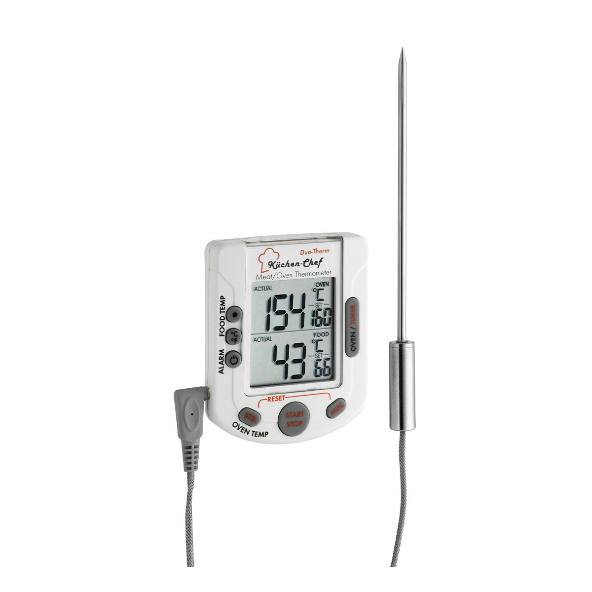 Digitales Grill-Braten-/Ofenthermometer KÜCHEN-CHEF DUO-THERM