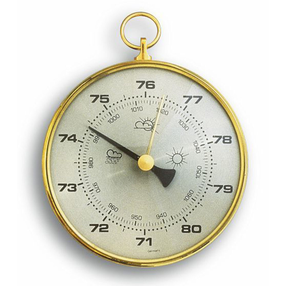 Barometer mit Messingring