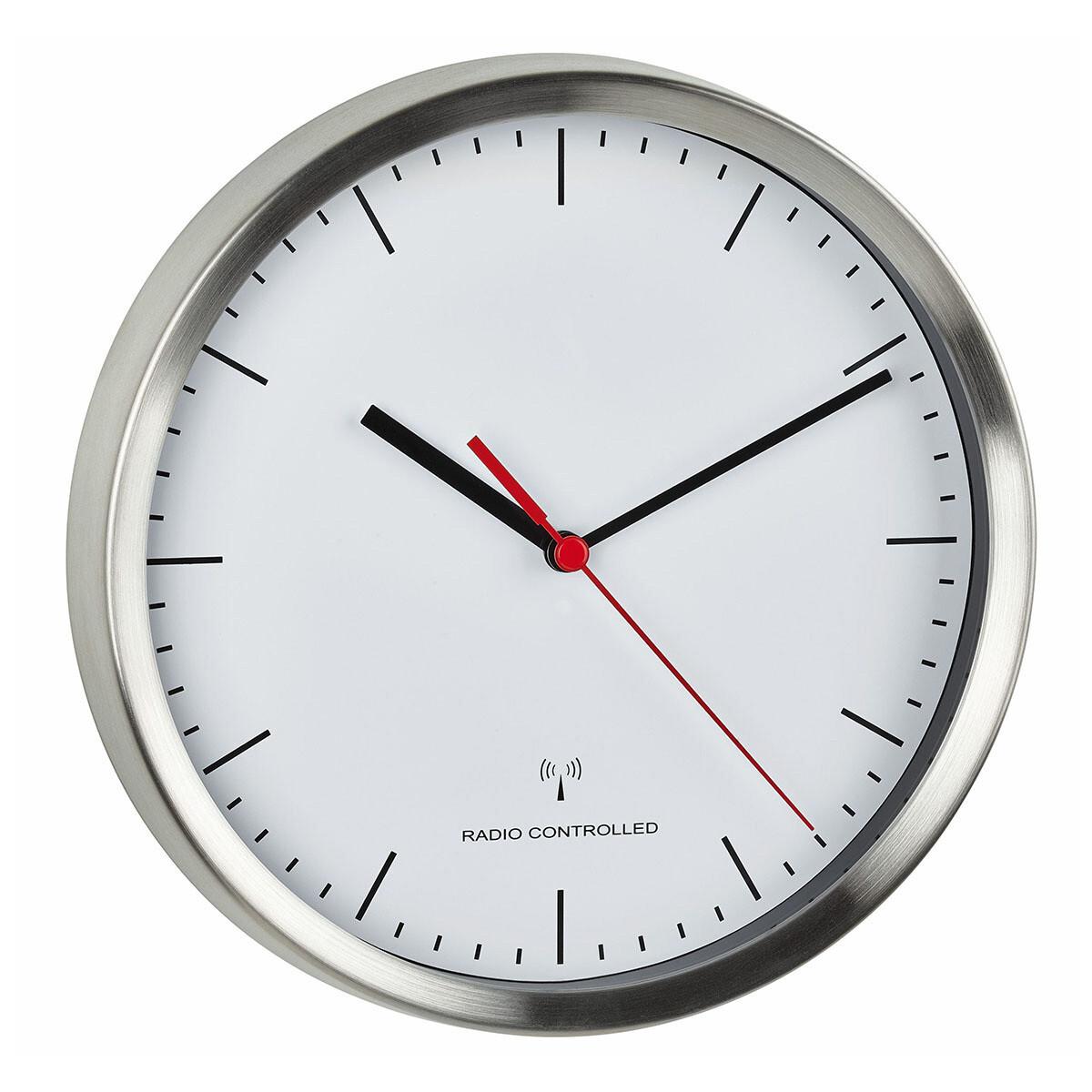 Funk-Wanduhr Sweep-Uhrwerk Geräuscharm