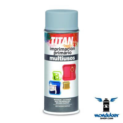 Titan - Imprimación Primário - Multiusos - Spray - Gris Claro