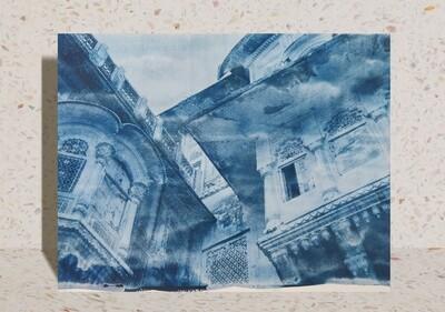 Mehrangarh Fort Cyanotype Photograph