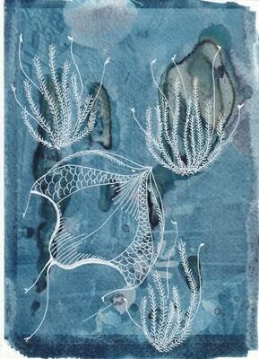 Manta ray 2 Art print