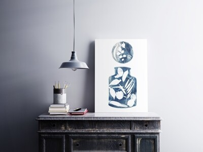 Still life Cyanotype Art Print