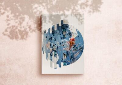 Spanish Dancer Mollusk Painted Collage  Art Print