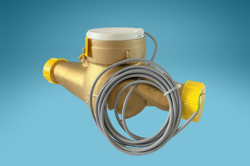 Mehrstrahlzähler Warmwasser (1:100 Liter) L: 190 mm
