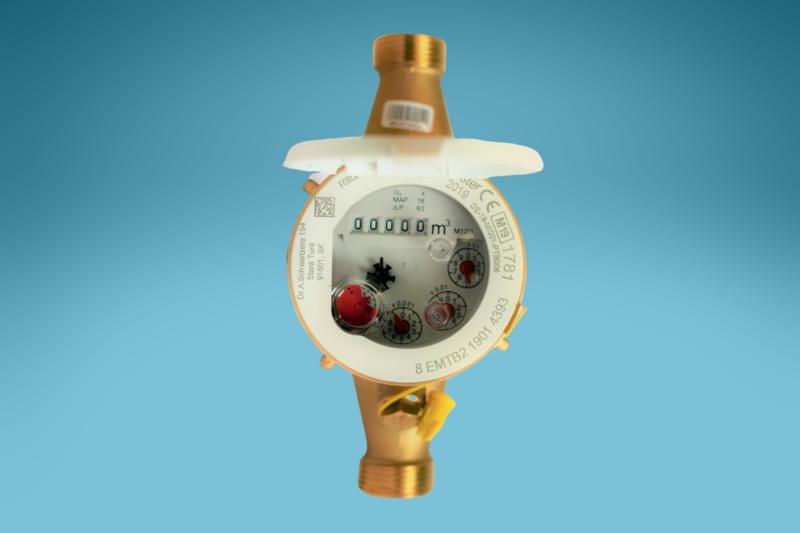 Mehrstrahlzähler Warmwasser L: 190 mm, DN: 3/4