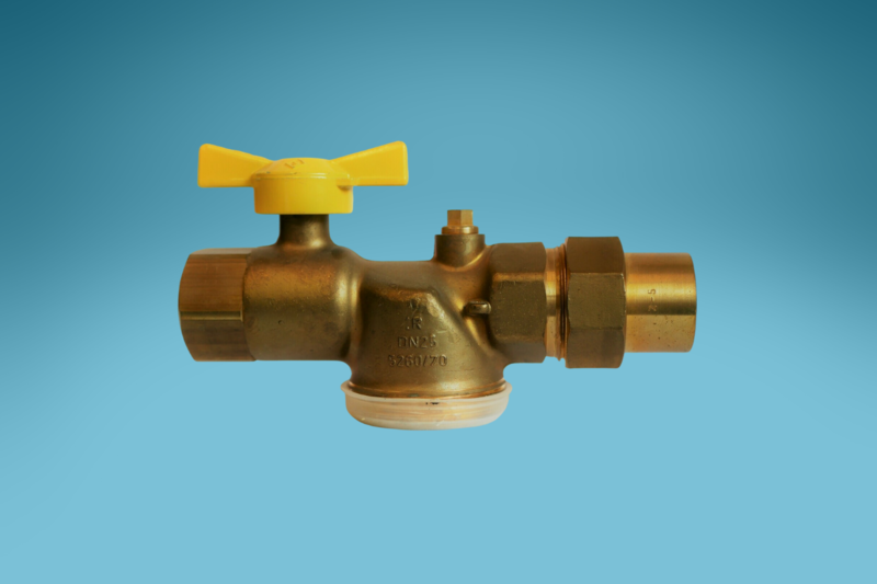 Gaszähler Kugel-Eckhahn 1