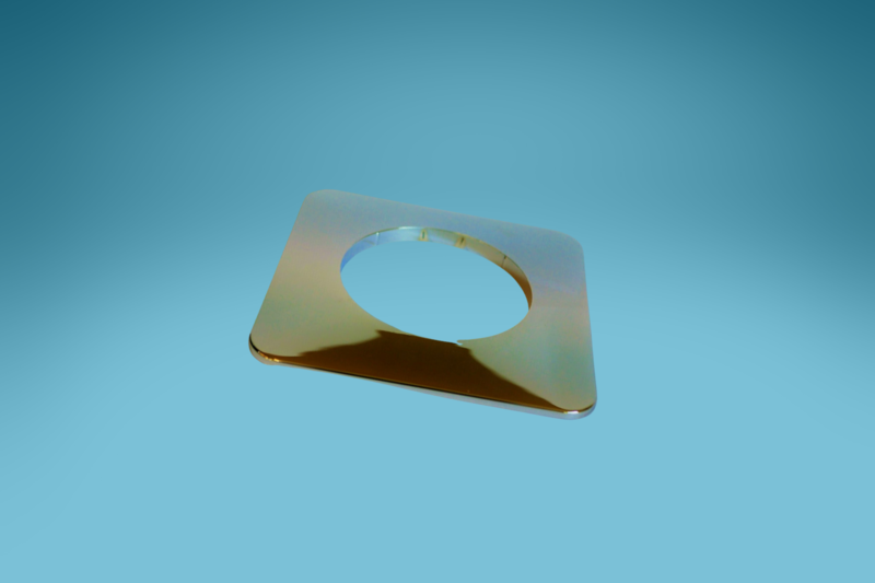 Rosette rund für Manschette, 137 mm