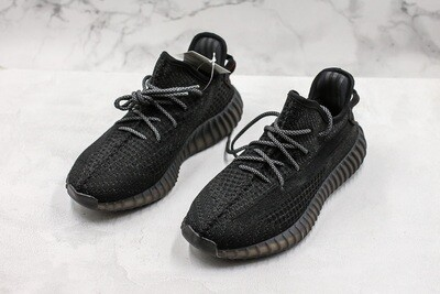 Yeezy Boost 350 V2  Black Reflective Runner Shoes