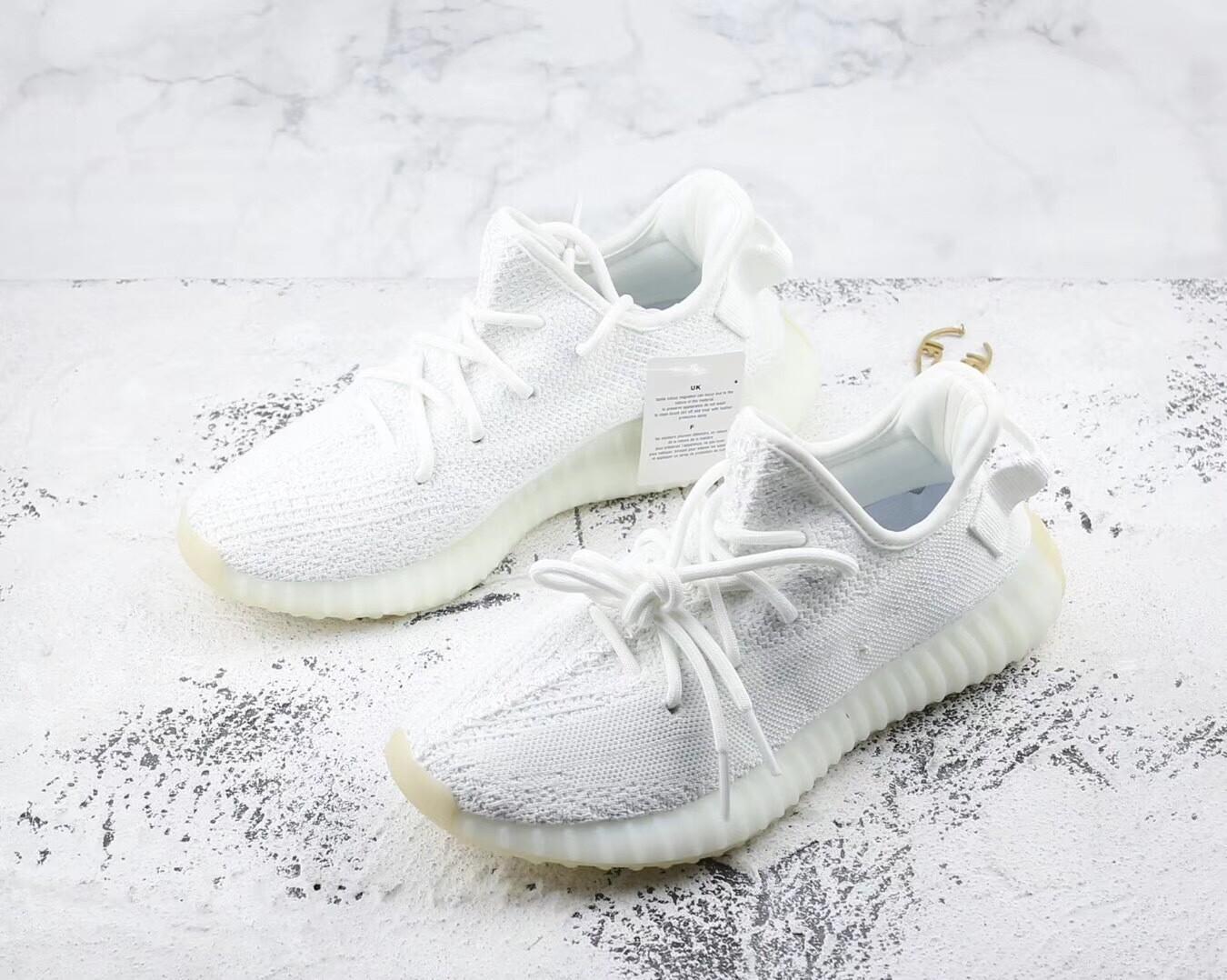 """Yeezy 350 Boost V2 """"triple White"""" Runner Shoes"""