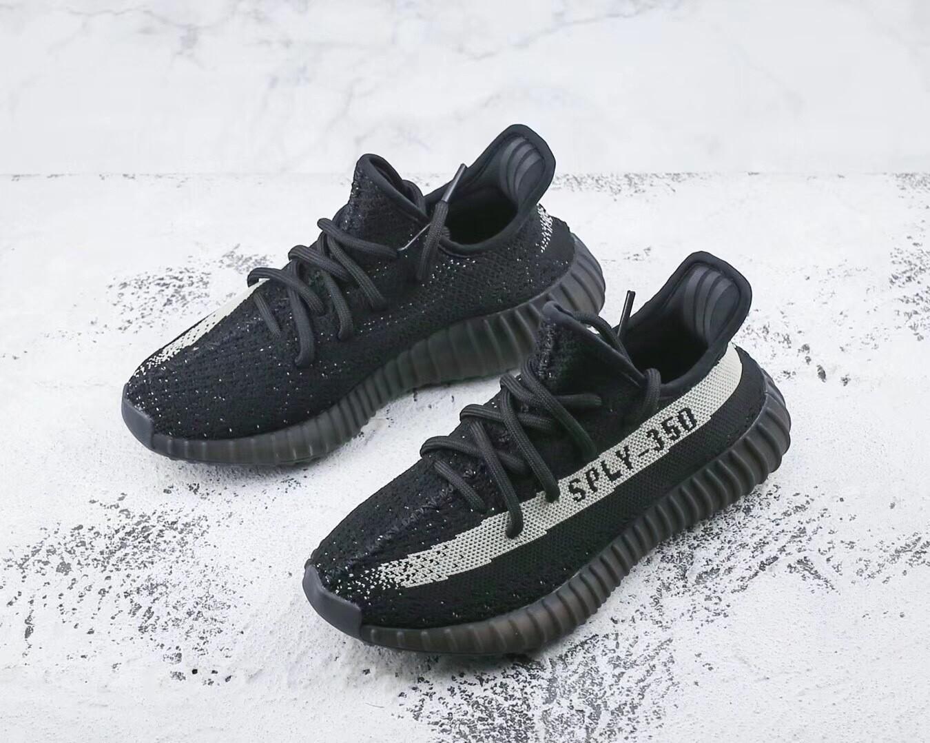Yeezy 350 Boost V2 Black White Runner Shoes