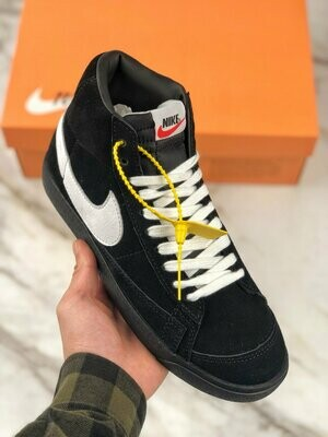 Men's/Women's Blazer Mid '77 Vintage Basketball Sneakers Black