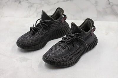 Yeezy 350 Boost V2 Black (Not Reflective) Runner Shoes