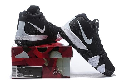 Men's Kyrie 4 Basketball Shoes Black White
