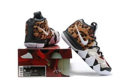 Men's Kyrie 4 Basketball Shoes Leopard