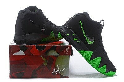Men's Kyrie 4 Basketball Shoes Black Green
