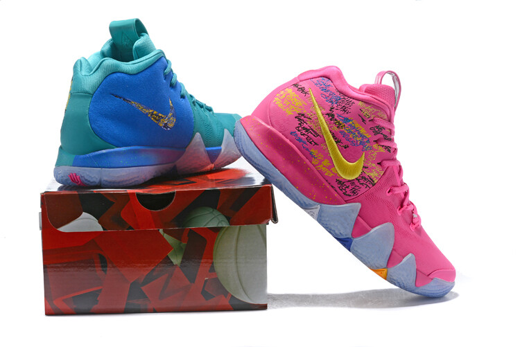 Men's Kyrie 4 Basketball Shoes Ice And Fire