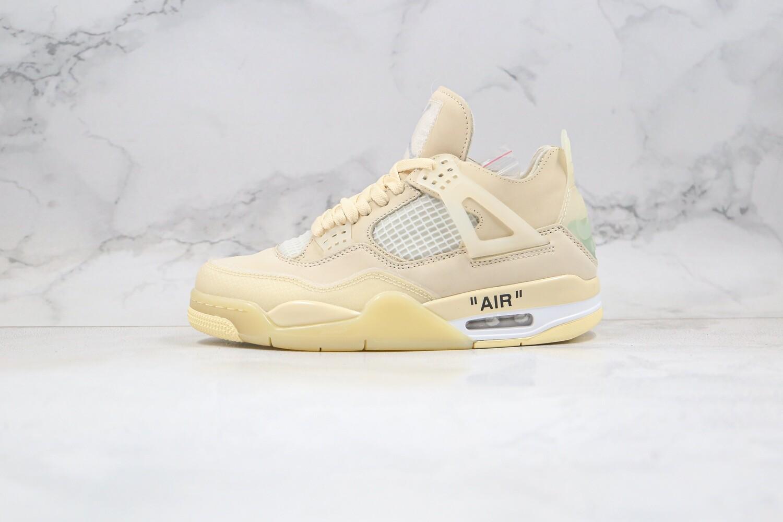Men's Air Jordan 4 Retro Off-White Sail Basketball Shoes Casual Life sneakers