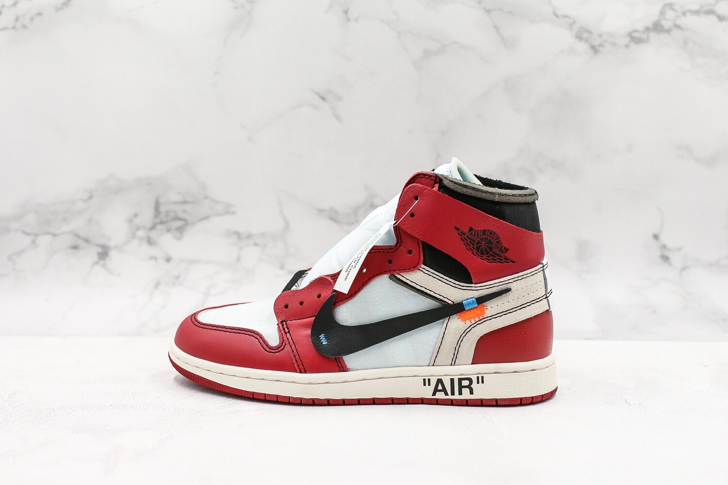 Men's/Women's Air Jordan 1 AJ1 Retro High Off-White Chicago  Basketball Shoes Casual Life sneakers