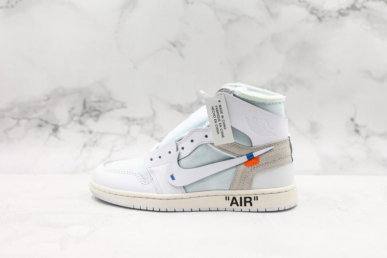 Men's/Women's Jordan1 AJ1 Retro High Off-White 'White'  Basketball Shoes Casual Life sneakers