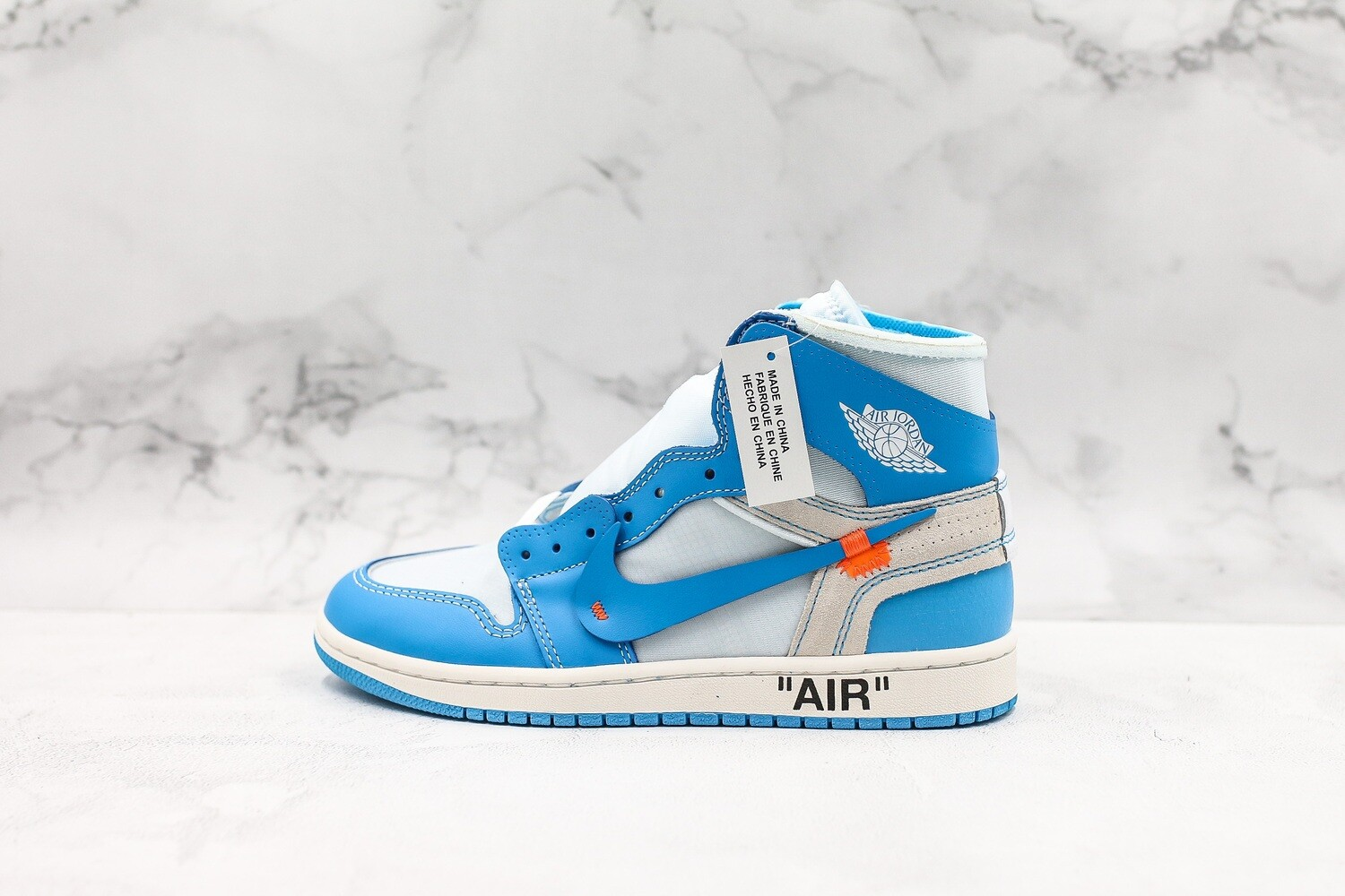 Men's/Women's Air Jordan 1 AJ1 Retro High Off-White 'UNC' Basketball Shoes Casual Life sneakers