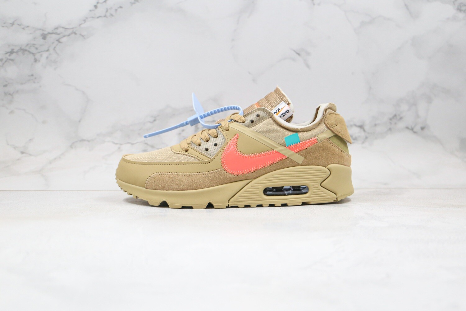 Men's Off -White x Nike Air Max 90 OW Yellow Basketball Shoes Casual Life sneakers