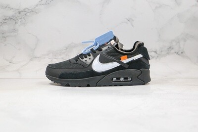 Men's Off -White x Nike Air Max 90 OW Black Basketball Shoes Casual Life sneakers
