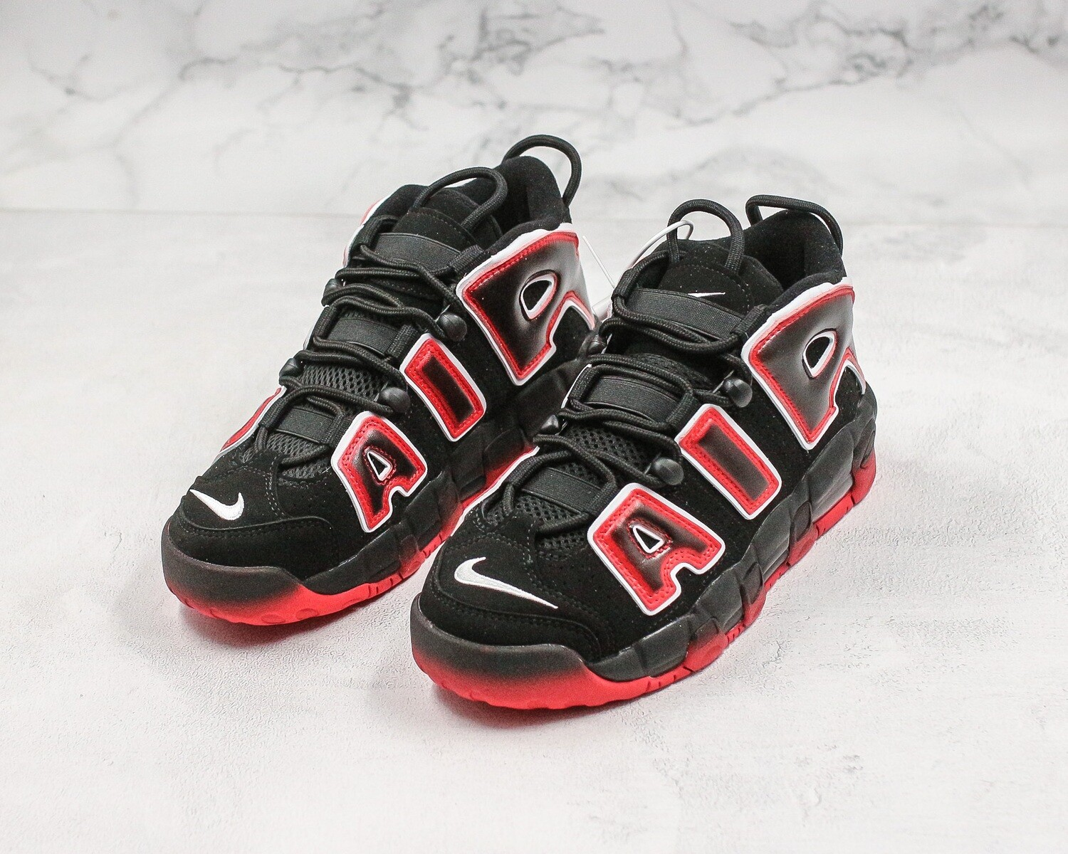 Air More Uptempo '96 Black/Laser Crimson Basketball Shoes