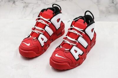 Air More Uptempo OG White/Red Basketball Shoes