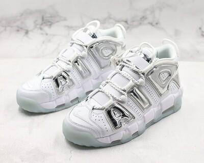 Air More Uptempo OG White/Silver Basketball Shoes