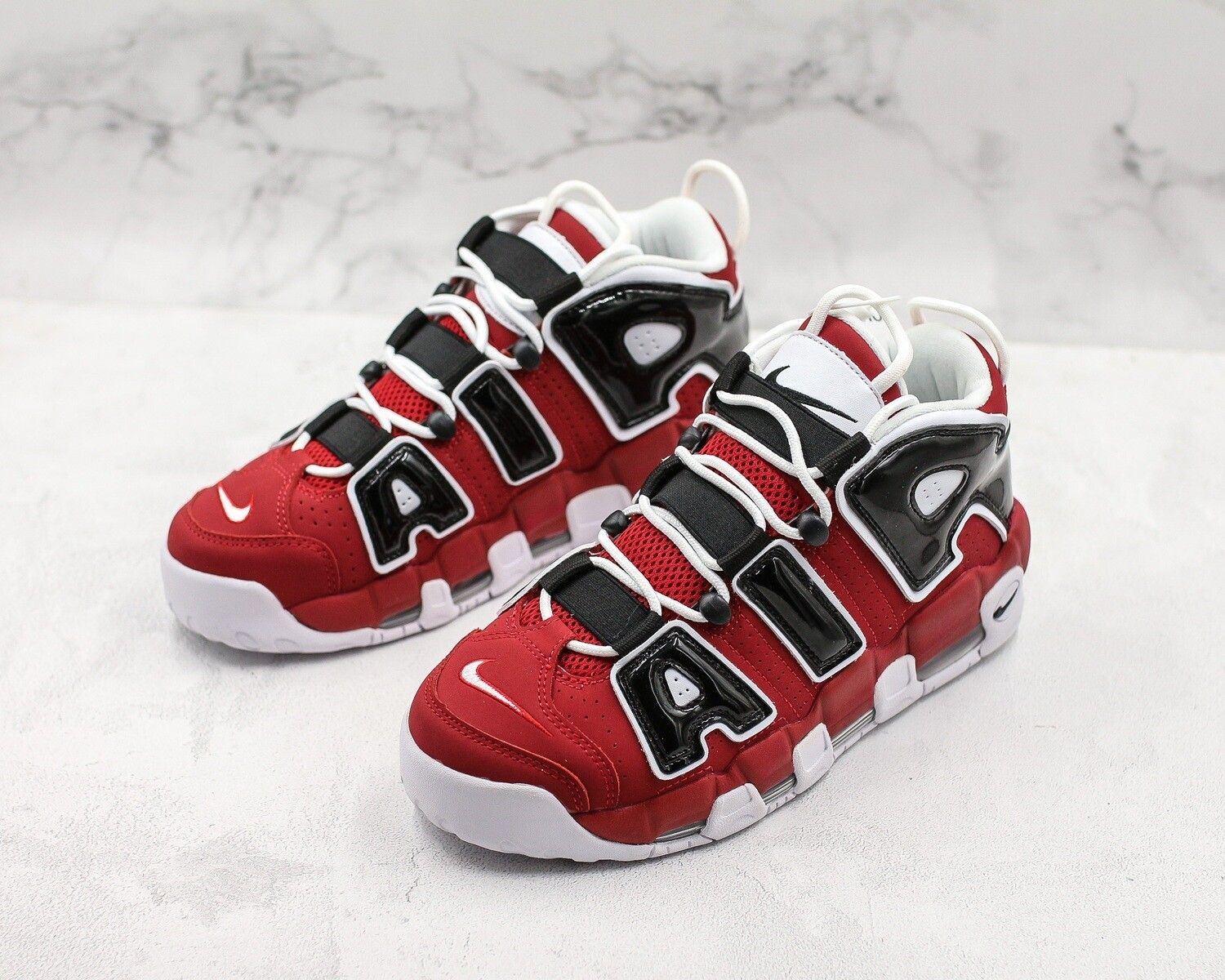 Air More Uptempo OG Red/Black Basketball Shoes
