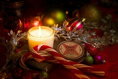 Candy Cane Soy Candle, 4oz