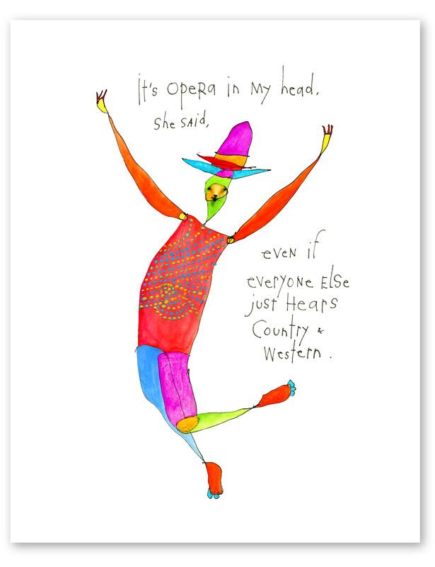 Cowboy Opera Print, 8