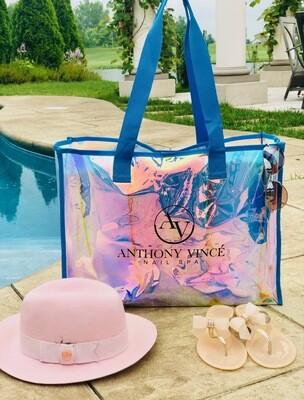 Metallic AV Handbag - Blue