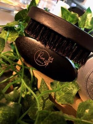 """Custom """"PURE KHEMIA"""" mini Beard Brush"""