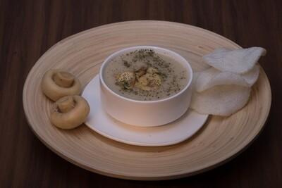 Malai Mushroom Soup (V)