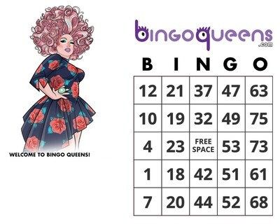 1 Digital Bingo Card - Monday, Dec 7th - 6PM PT